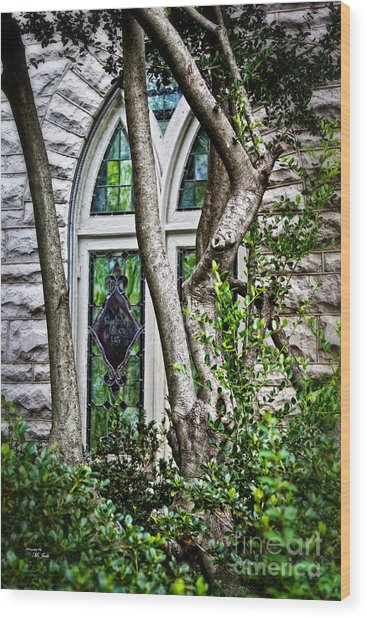 Window To Heaven Wood Print