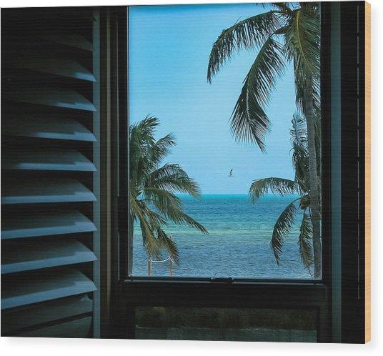 Window To Smathers Beach Wood Print