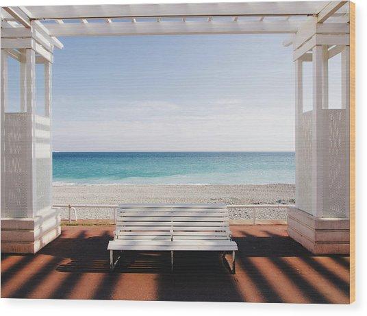 Window To The Sea Wood Print