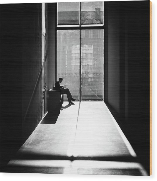 Windowlight Wood Print by Michael M.