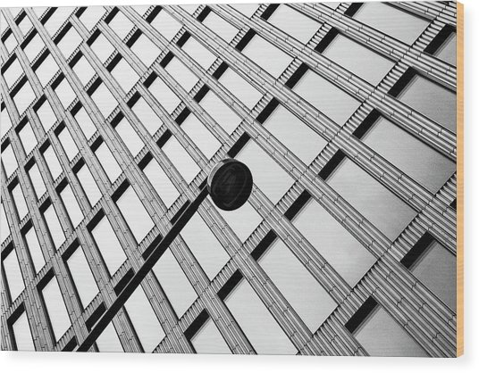 Windows And Lamp Wood Print by Inge Schuster