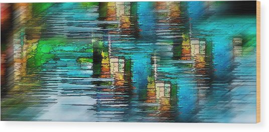 Windows Into The Blue Wood Print