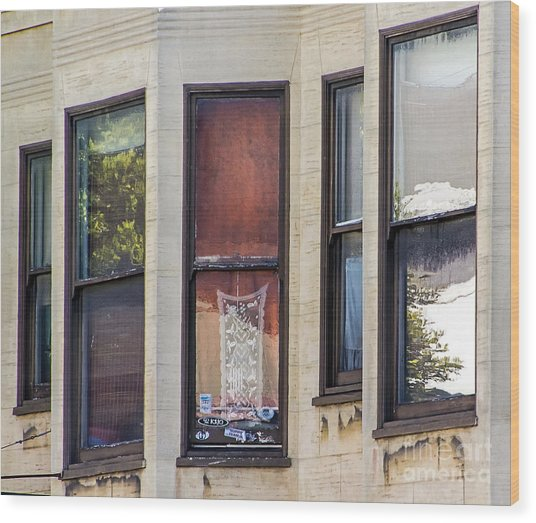 Wood Print featuring the photograph Windows by Kate Brown
