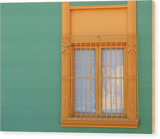Windows Of The World - Santiago Chile Wood Print