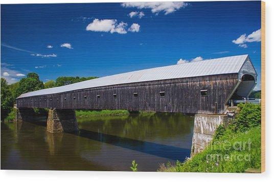 Windsor - Cornish Covered Bridge. Wood Print