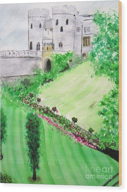 Windsor Castle Wood Print