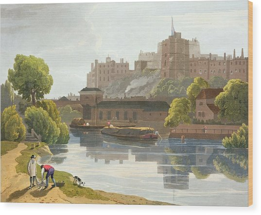 Windsor Castle, From A Compilation Wood Print