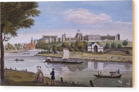 Windsor Castle From Across The Thames Wood Print