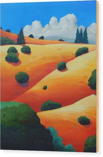 Windy Hill Trip Panel 2 Wood Print