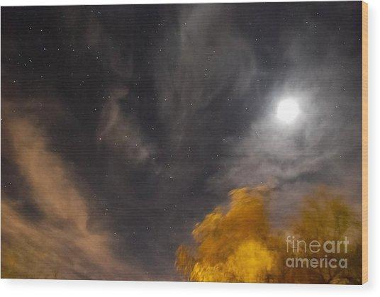 Windy Night Wood Print