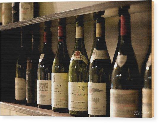 Wine Cellar Wood Print by Cole Black