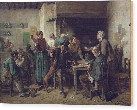 Wine Shop Monday, 1858 Wood Print