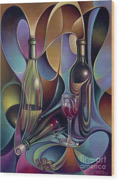 Wine Spirits Wood Print
