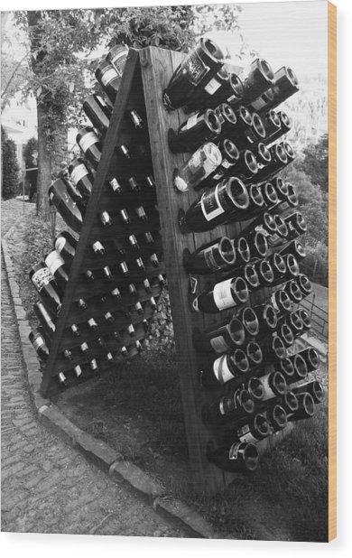 Wine Tasting In Prague Wood Print