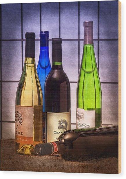 Wines Wood Print