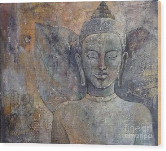 Winged Buddha Wood Print by Paulina Garoa