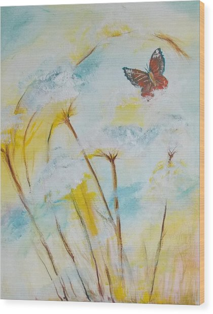 Winged Flight Wood Print