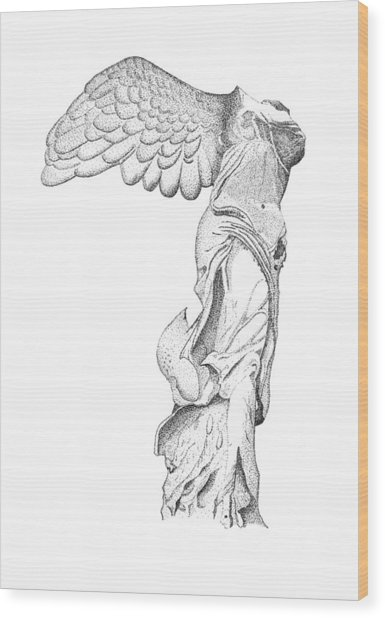 Winged Victory Of Samothrace Wood Print by Steven Tomadakis