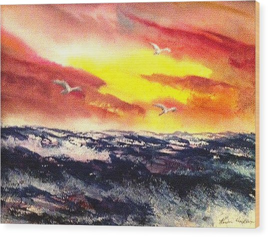Wings Of Change Wood Print by Karen  Condron