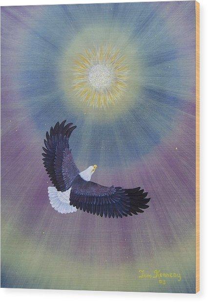 Wings Of Eagles Wood Print