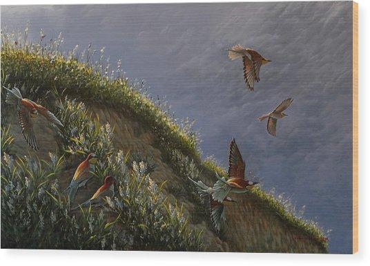 Wings Of Sumer Wood Print