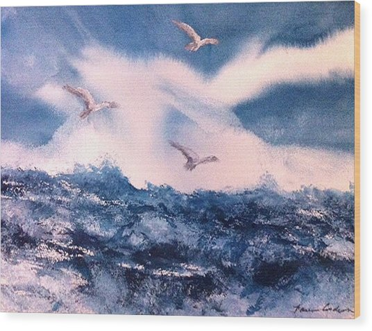 Wings Of The Wind Wood Print by Karen  Condron
