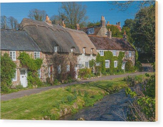 Winkle Street Calbourne Isle Of Wight Wood Print by David Ross