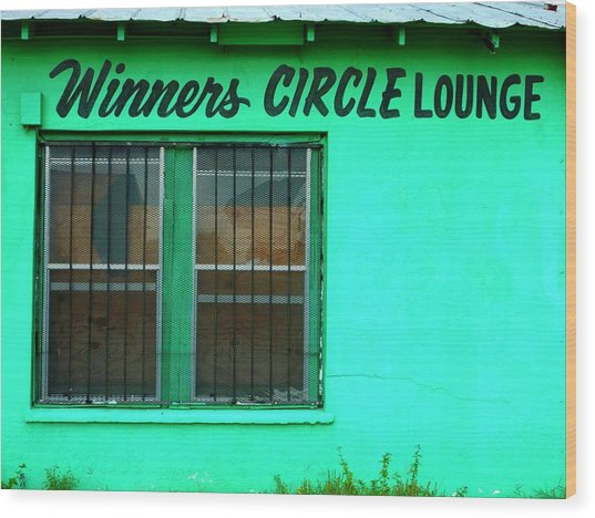 Winner's Circle Lounge Wood Print