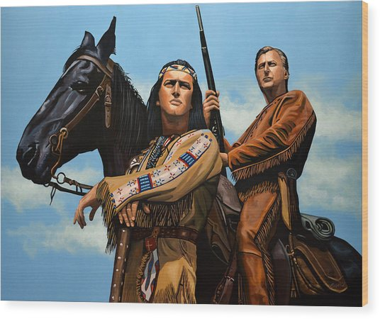 Winnetou And Old Shatterhand Wood Print