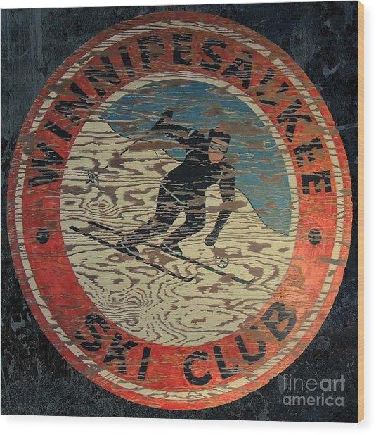 Winnipesaukee Ski Club 2 Wood Print