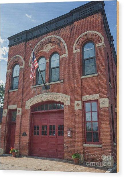 Winona East End Fire Station Wood Print