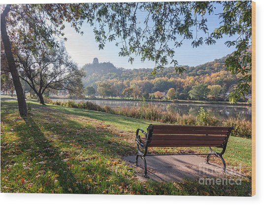 Wood Print featuring the photograph Winona Gift - Seat With A View by Kari Yearous