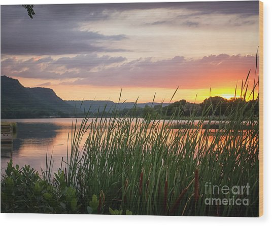 Winona Sunset Wood Print