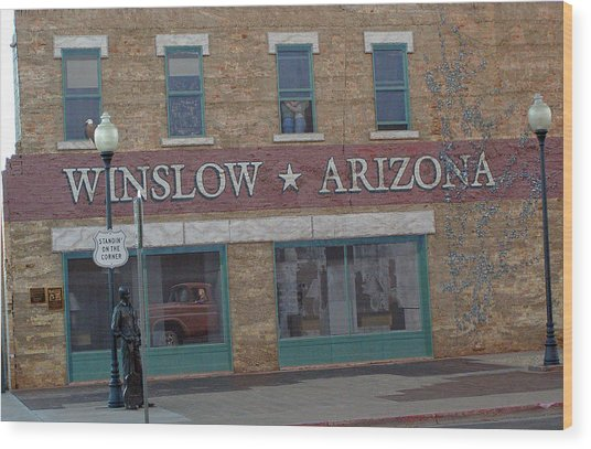 Winslow Arizona Wood Print