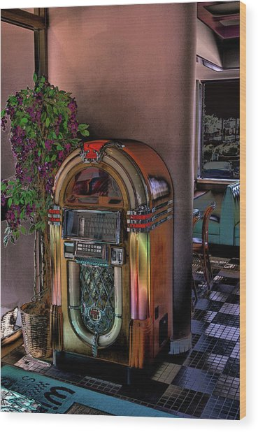 Winsteads Jukebox Wood Print
