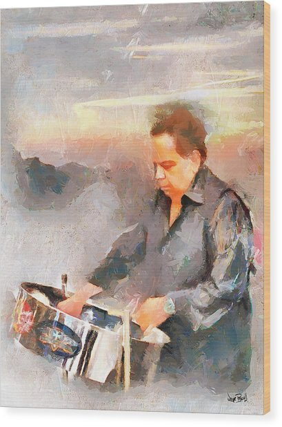 Winston And His Pan Wood Print