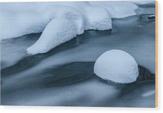 Winter Abstract Wood Print