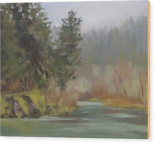 Winter At Swiftwater Wood Print