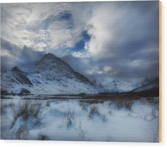 Winter At Tryfan Wood Print