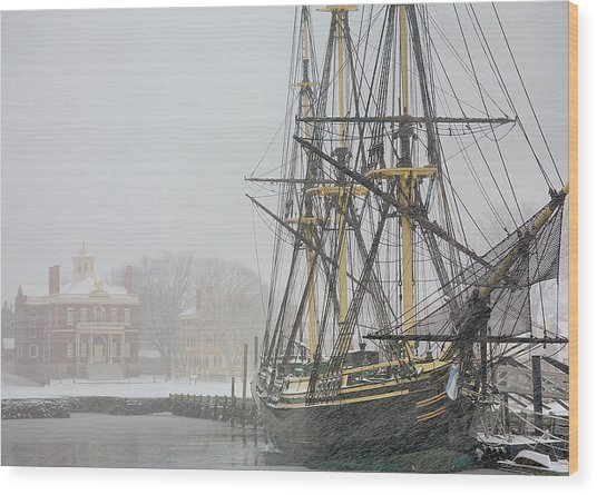 Winter Berth Wood Print