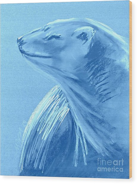 Winter Blue Wood Print