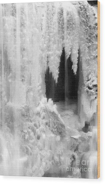 Winter Cave Wood Print