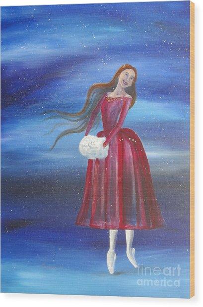 Winter Dancer3 Wood Print