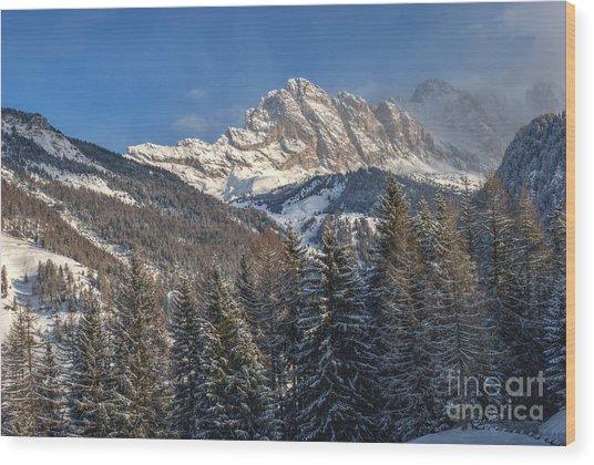Winter Dolomites Wood Print