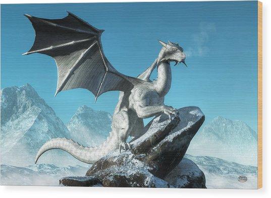 Winter Dragon Wood Print