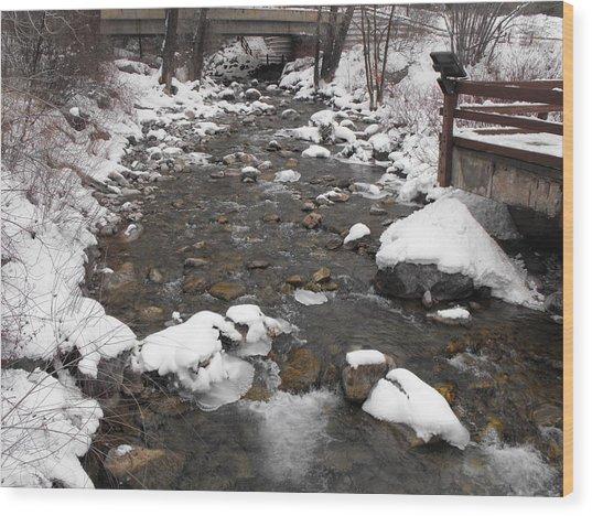 Winter Flow Wood Print