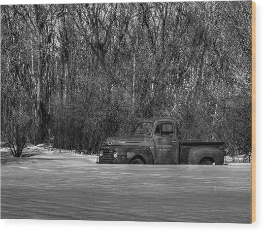Winter Ford Truck 1 Wood Print