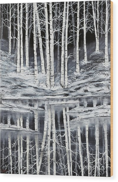 Winter Forest Wood Print by Premierlight Images