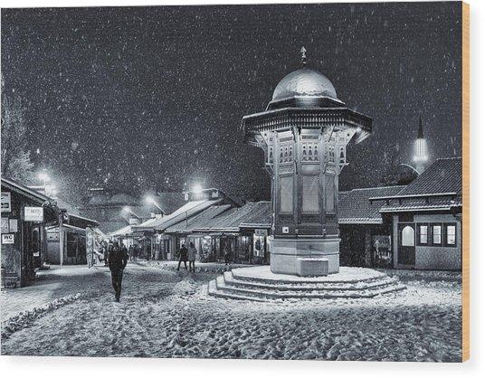 Winter In Sarajevo Wood Print