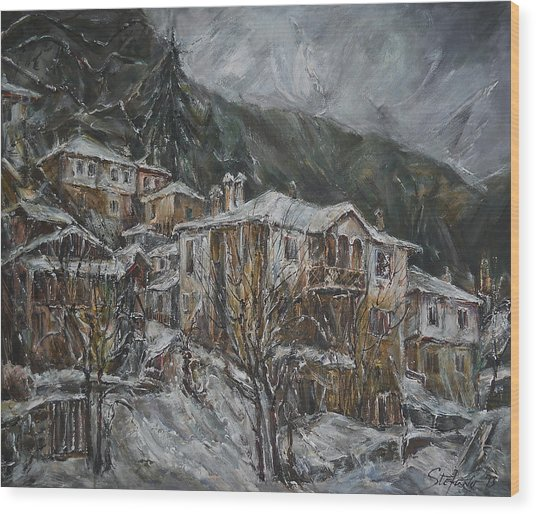 Winter In Shiroka Luka Wood Print
